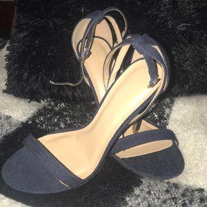 Wild Diva blue jean heels